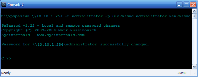 Reset and Change Local Administrator Password On Remote Windows System